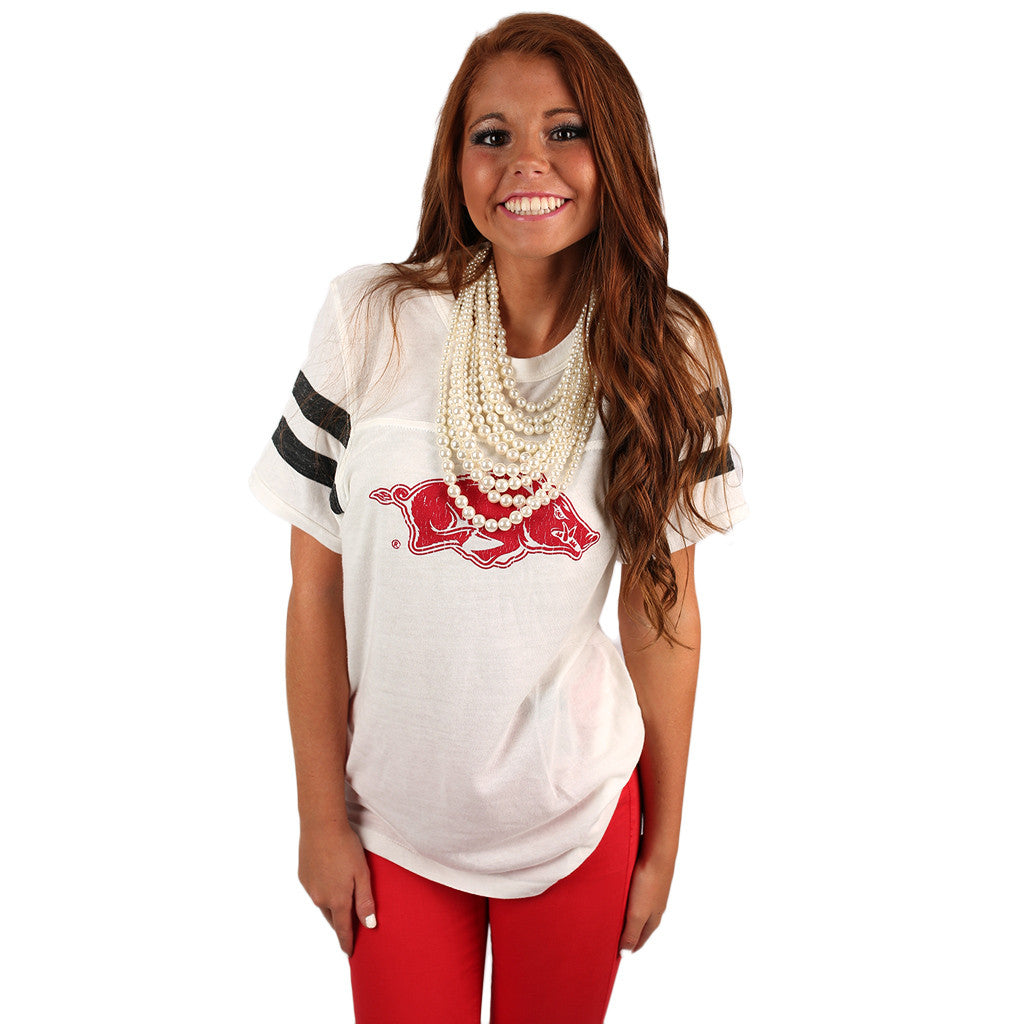 Distressed Hog Football Tee