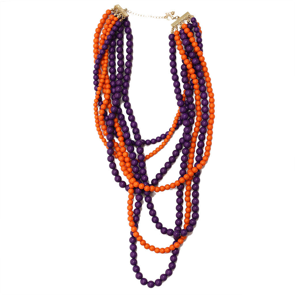 Tangle Me Up Two Tone Royal Purple and Orange
