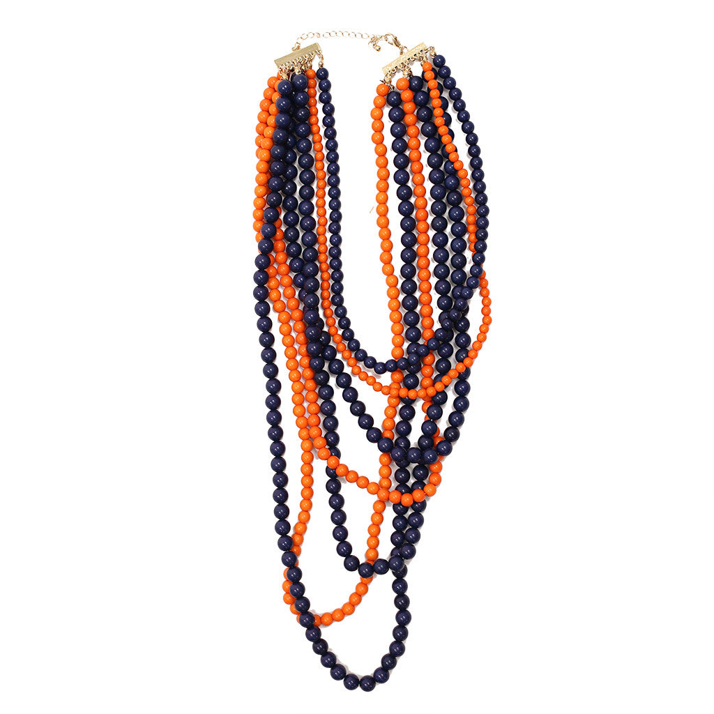 Tangle Me Up Two Tone Navy and Orange