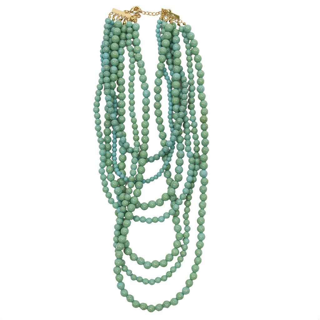 Tangle Me Up Distressed Bead in Turquoise