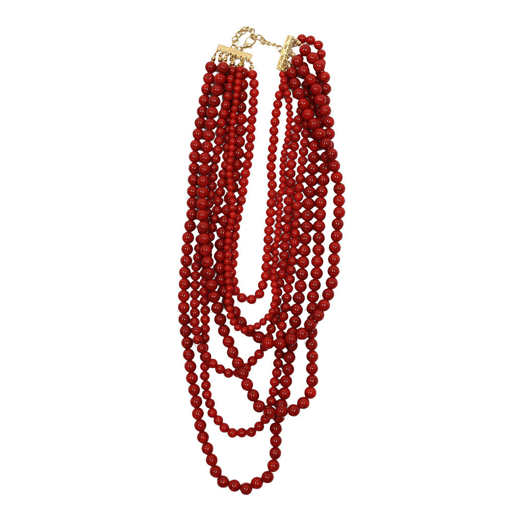 Tangle Me Up Distressed Bead in dark red