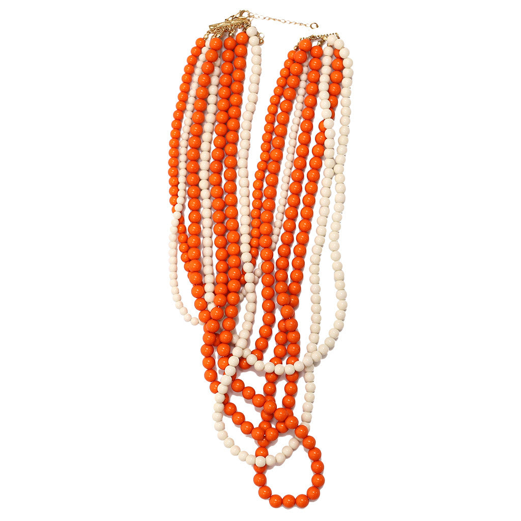 Tangle Me Up Two Tone Orange and White