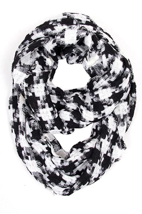 Houndstooth Love infinity Scarf