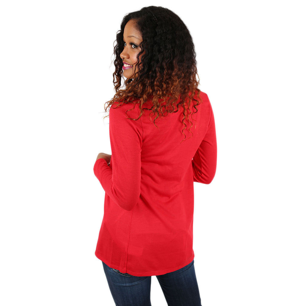 Lightweight Cardi in Red