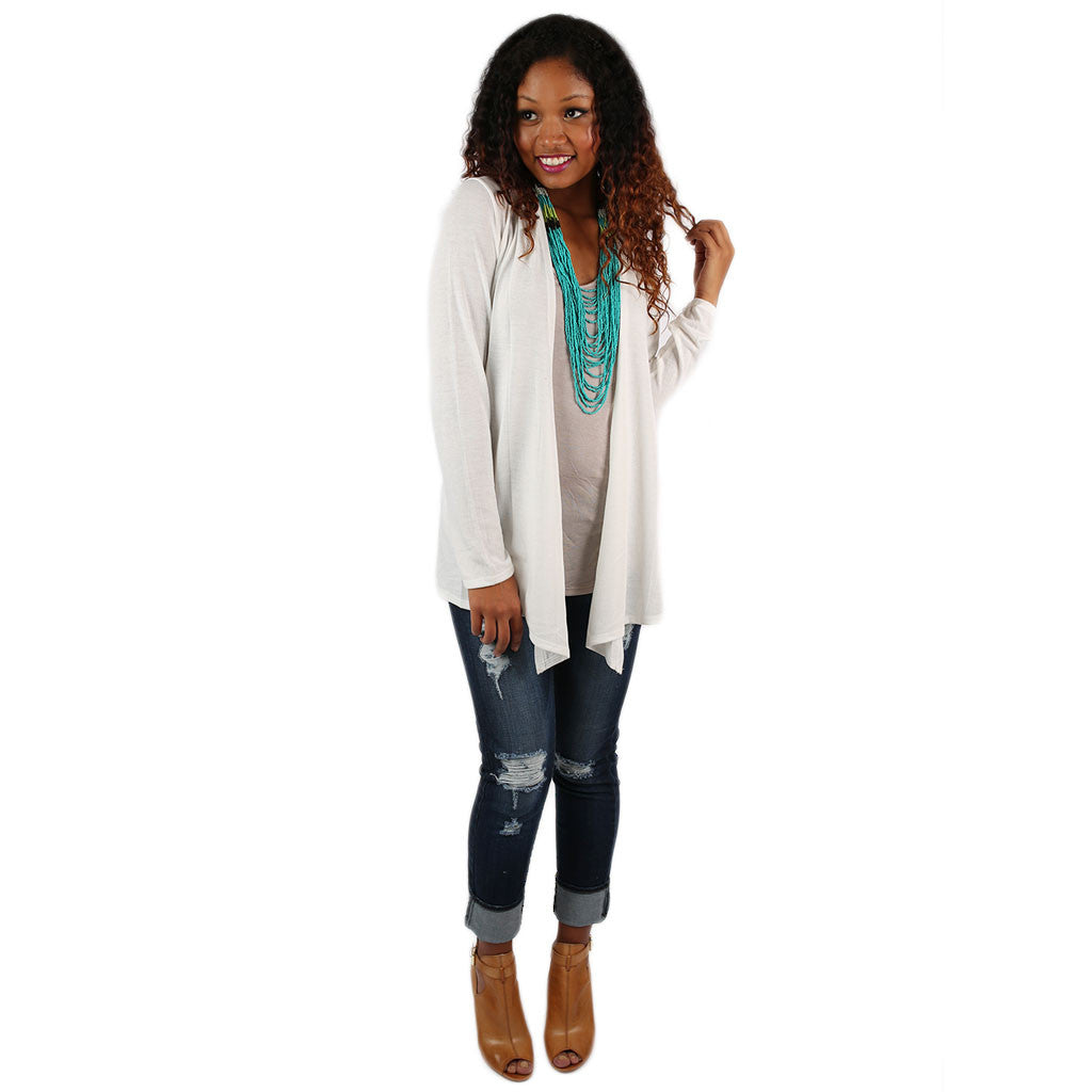 Lightweight Cardi in White