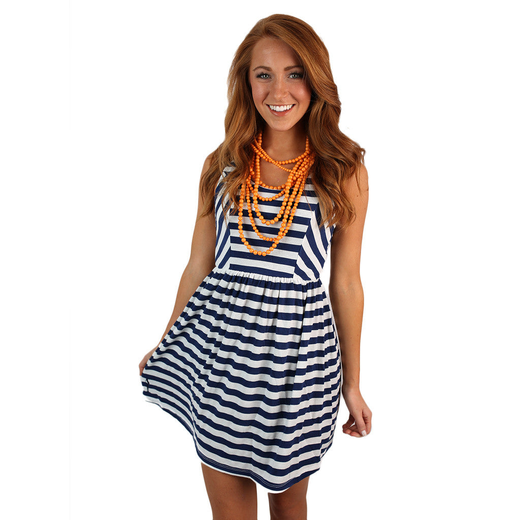 Peek a Boo Dress Navy