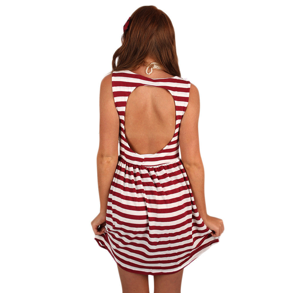 Peek a Boo Dress Red