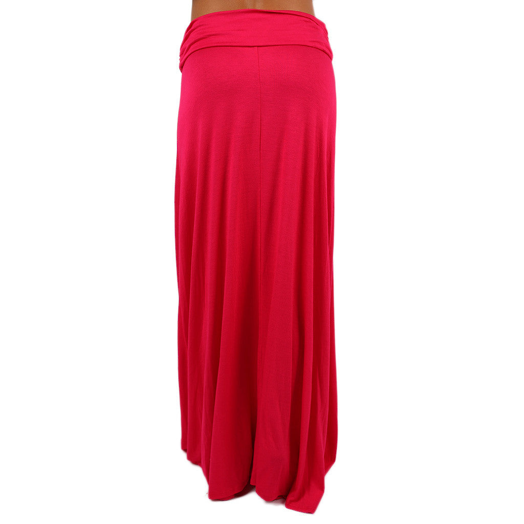Not So Basic Maxi Skirt in Hot Pink