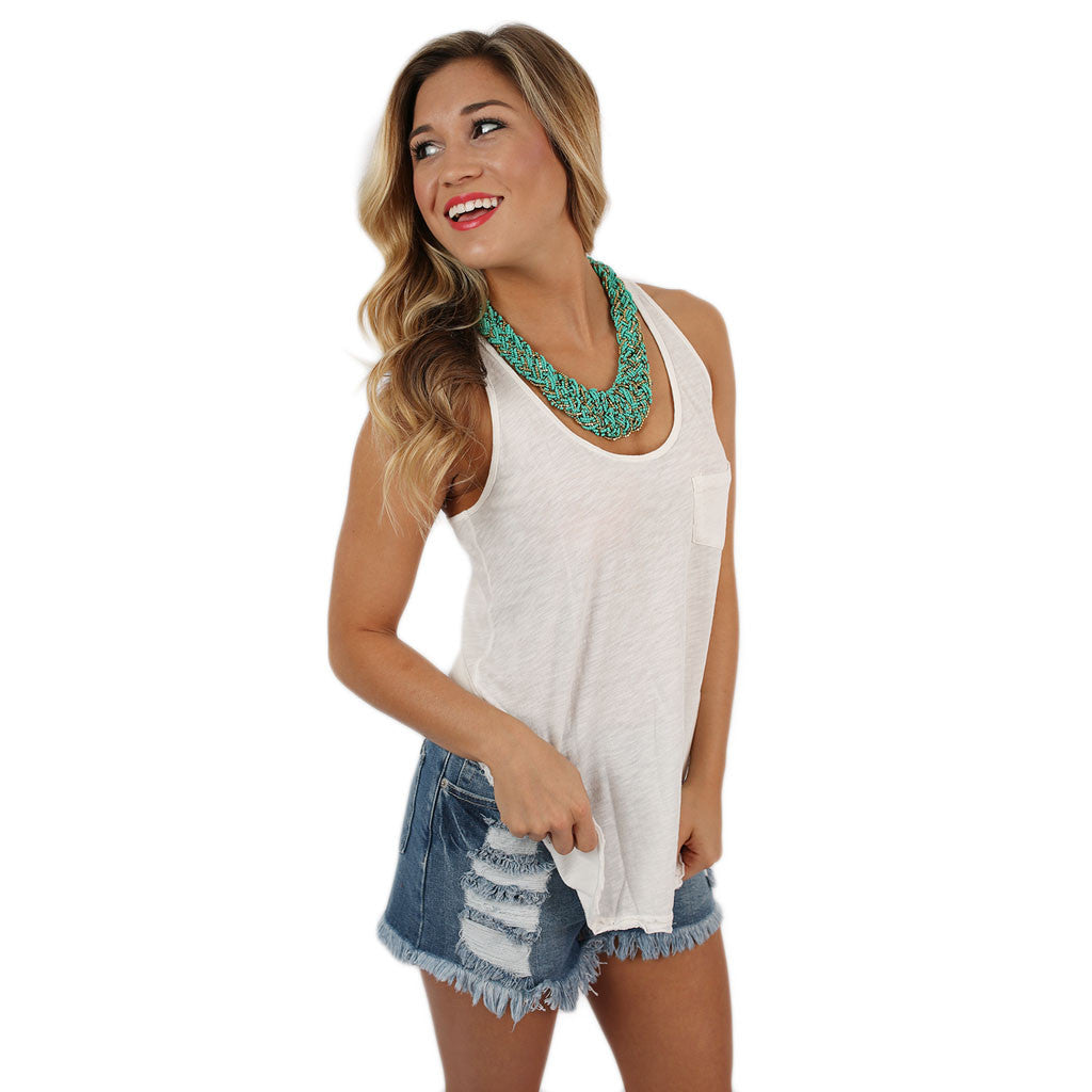Calm Breeze Tank in Ivory