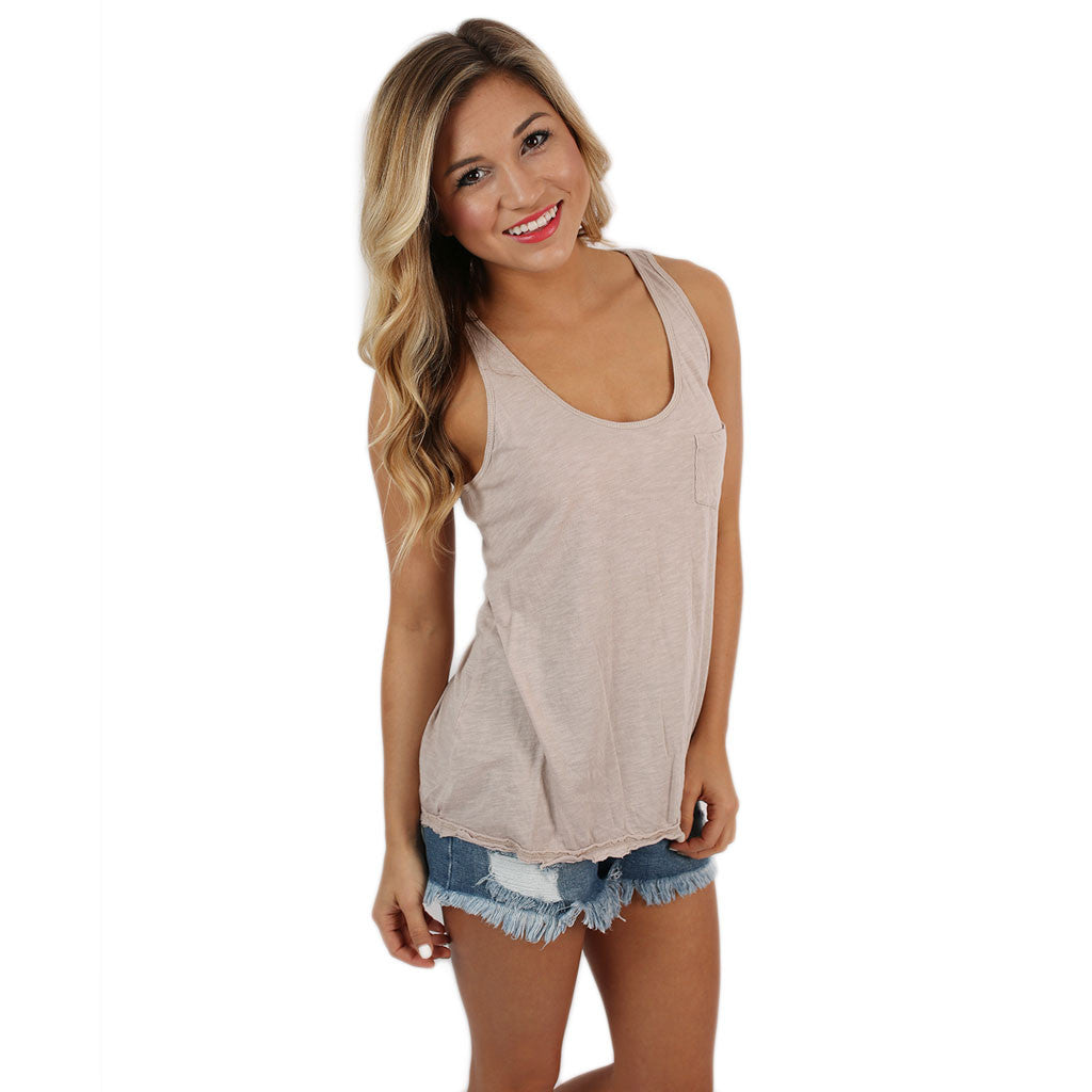 Calm Breeze Tank in Taupe