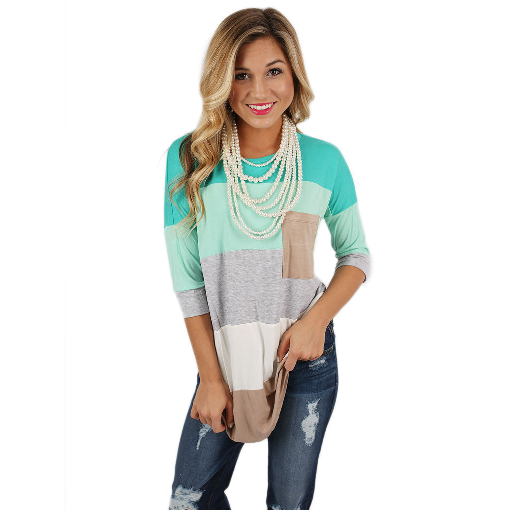 Cozy Luxury Tee in Mint