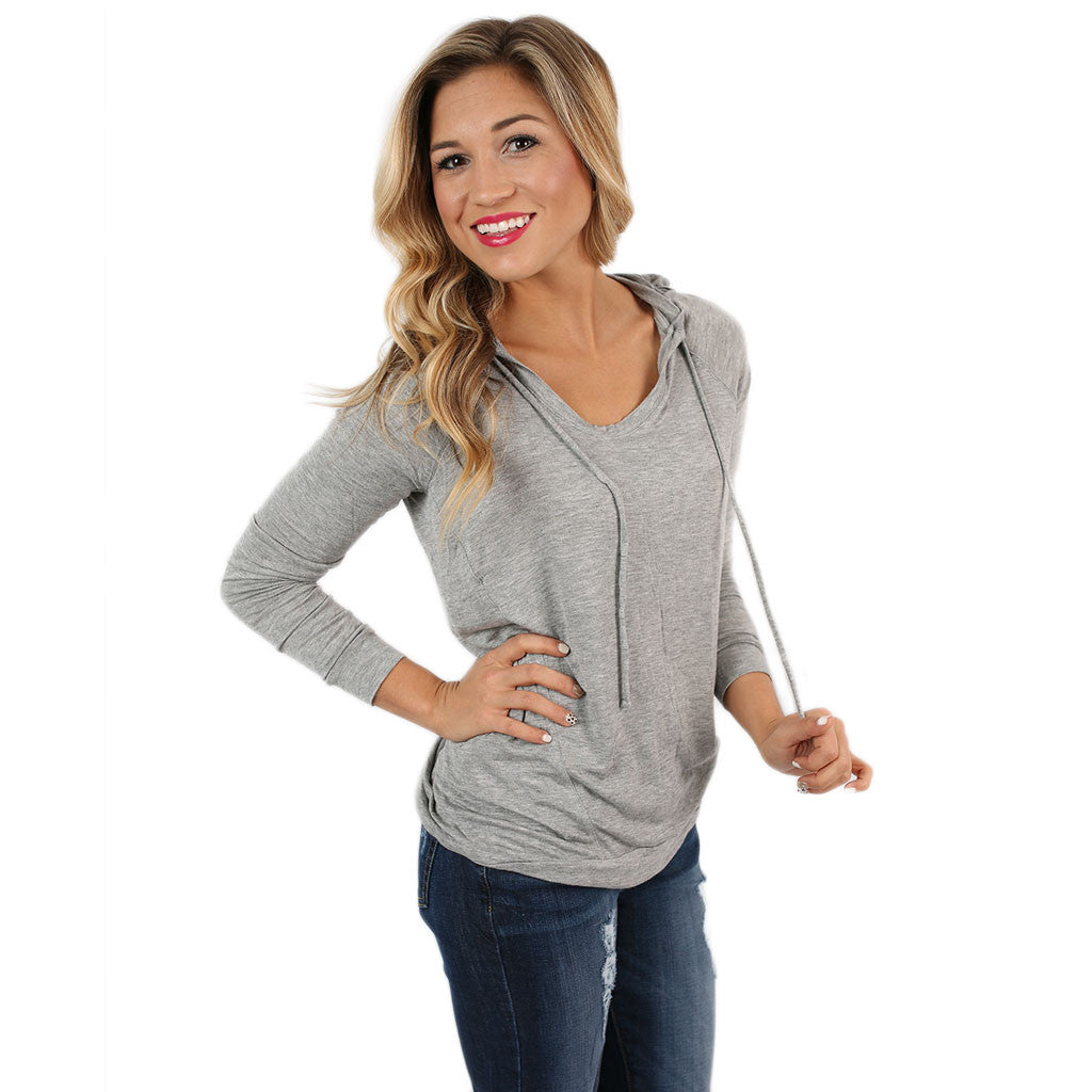 Cozy Chic Hoodie in Grey