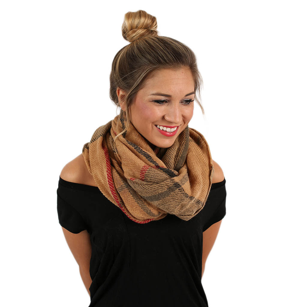 Meet Me By The Fire Infinity Scarf in Brown