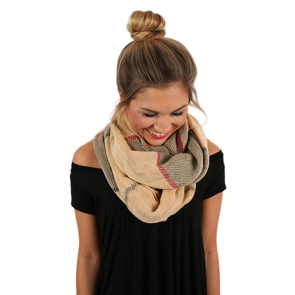 Meet Me By The Fire Infinity Scarf in Beige