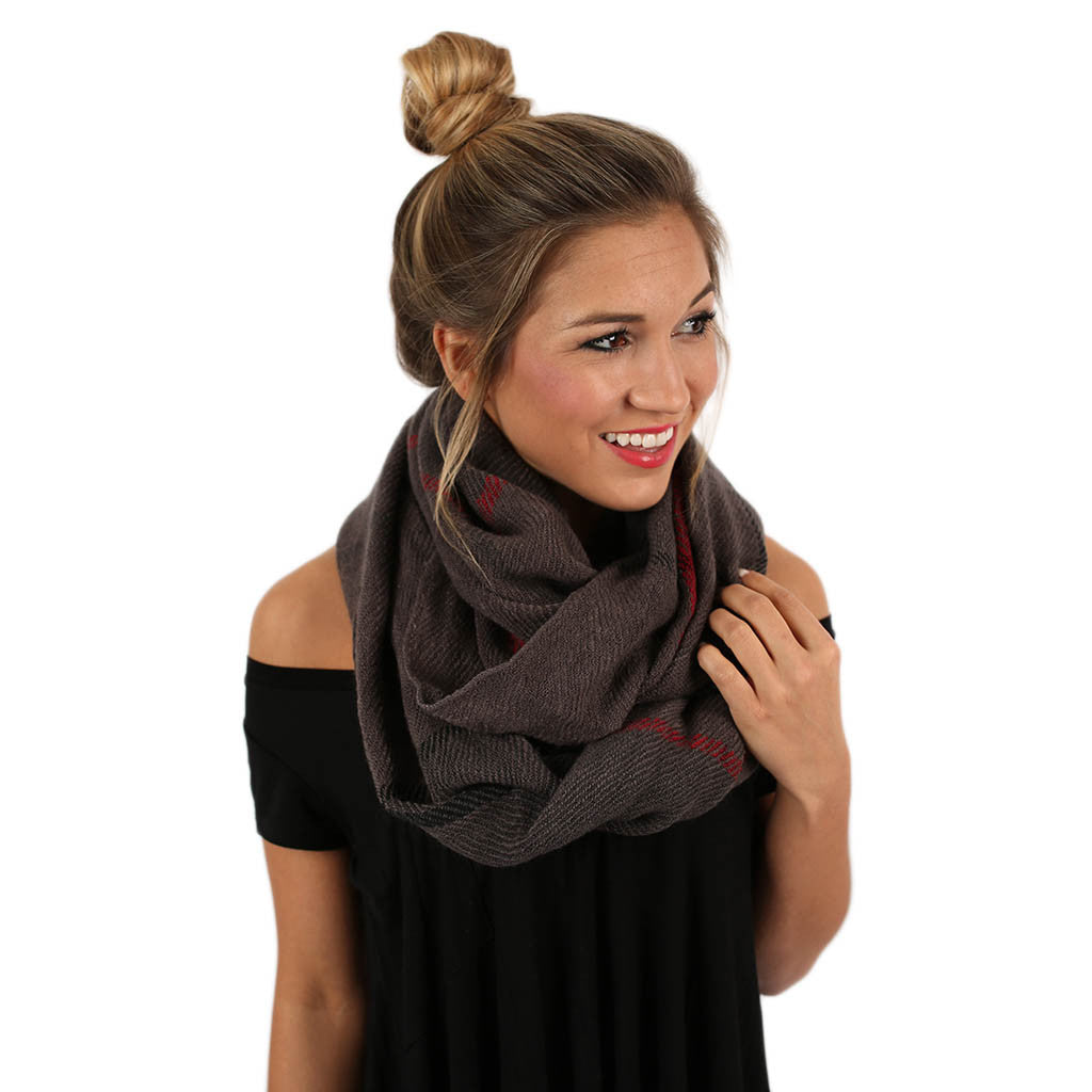 Meet Me By The Fire Infinity Scarf in Grey