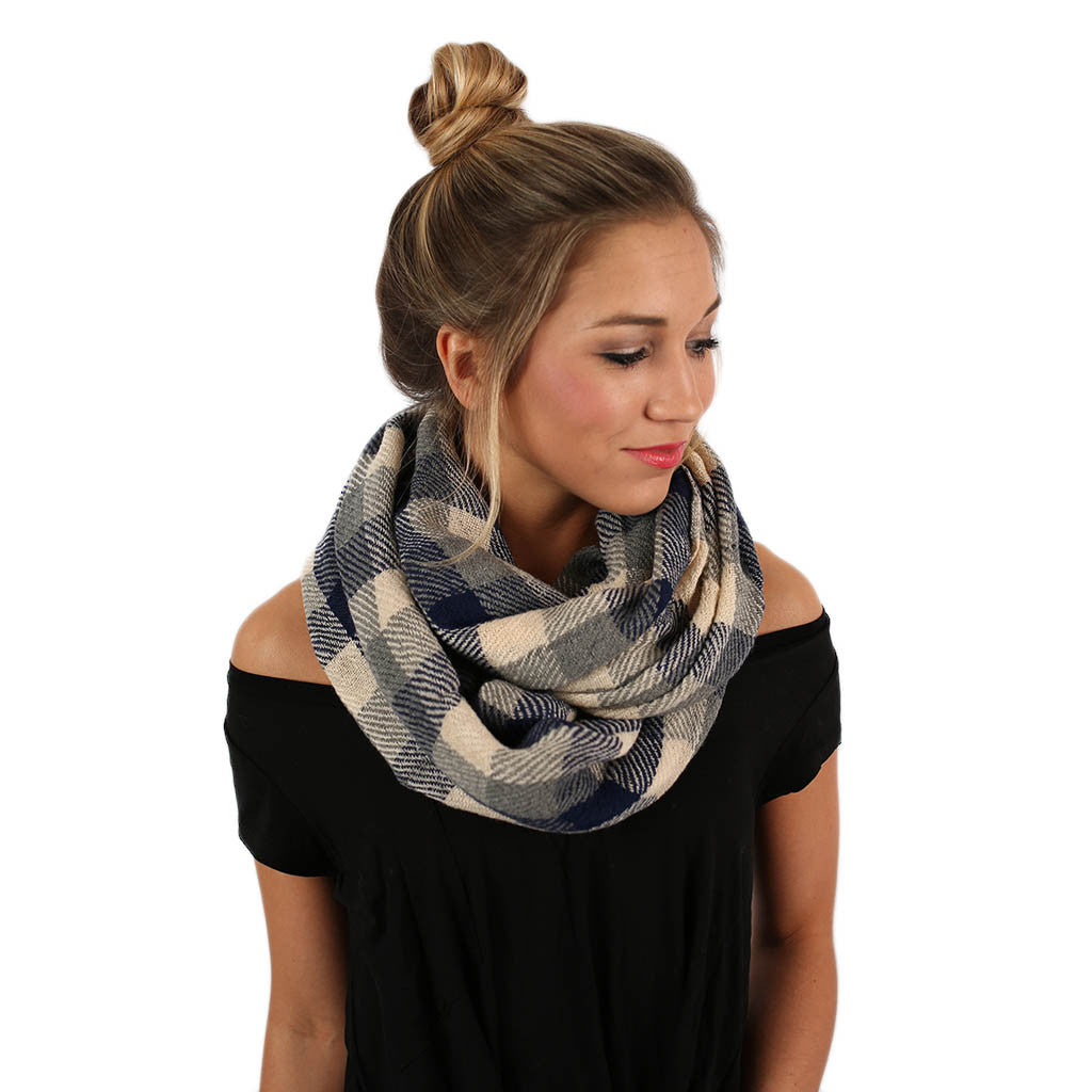 Cozy For Days Infinity Scarf in Blue