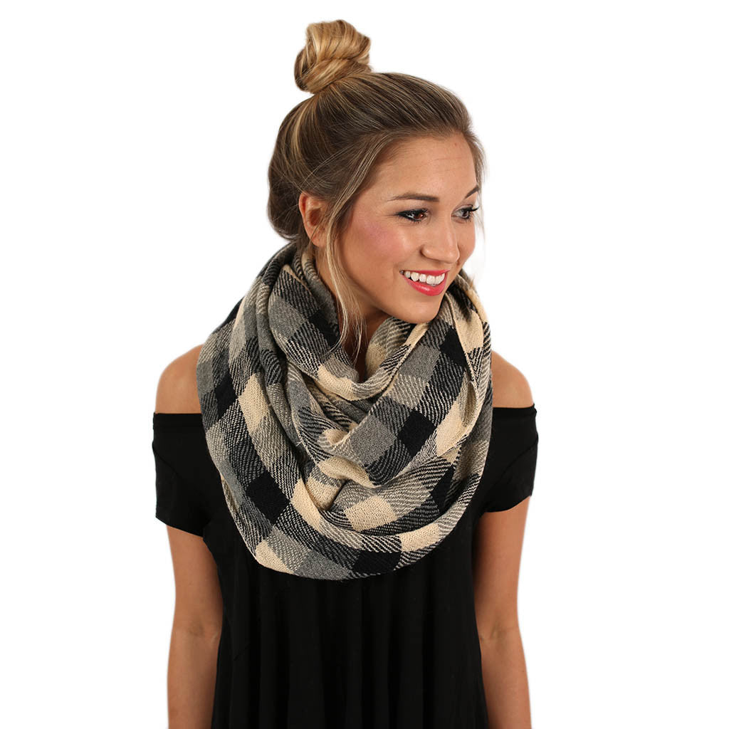 Cozy For Days Infinity Scarf in Black