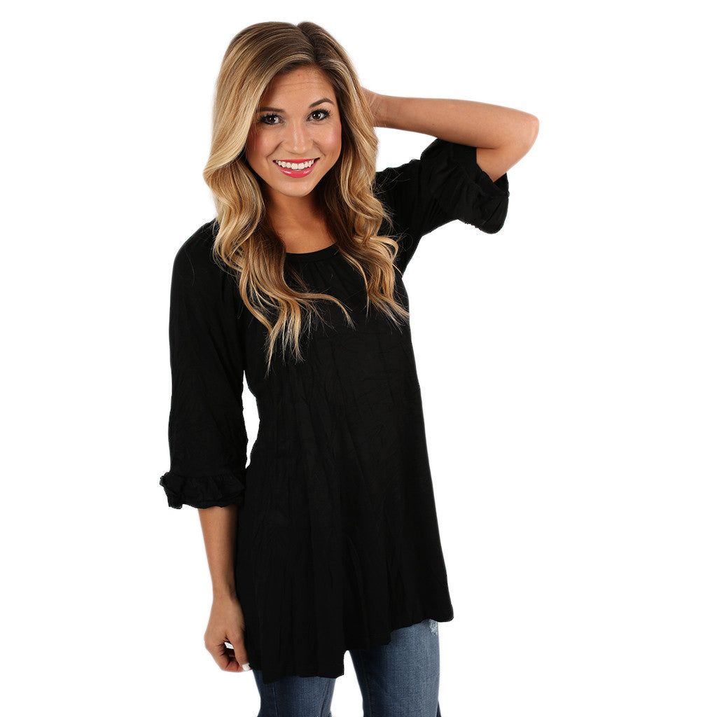 Cheer On Tunic in Black