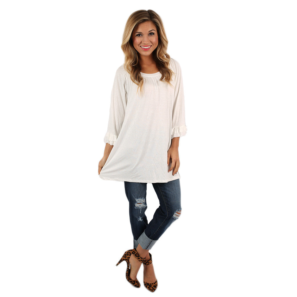 Cheer On Tunic in Ivory