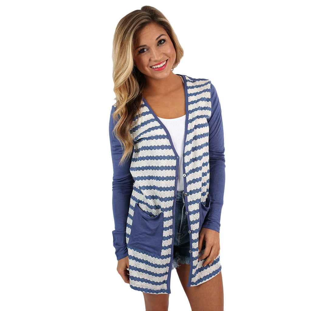 Cuddle Time Cardi Blue
