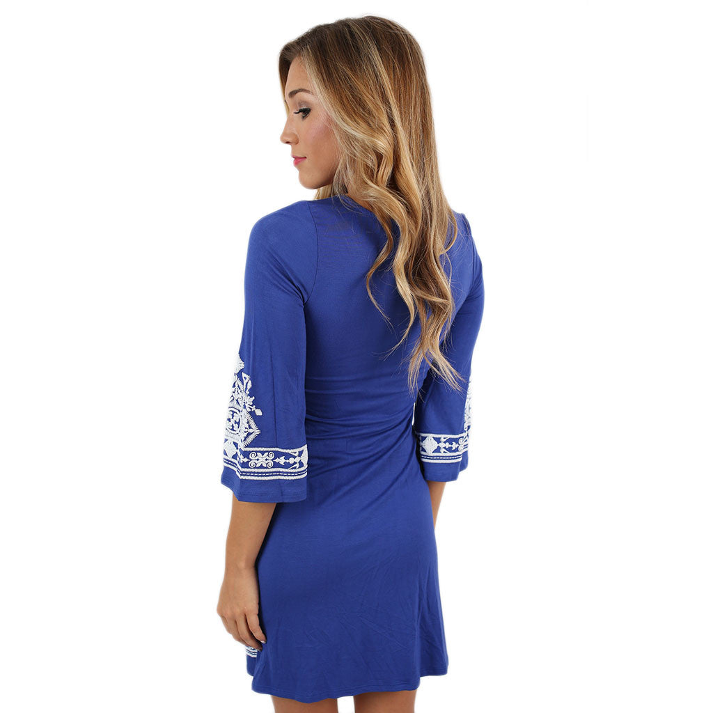 The Winning Team Dress in Royal Blue