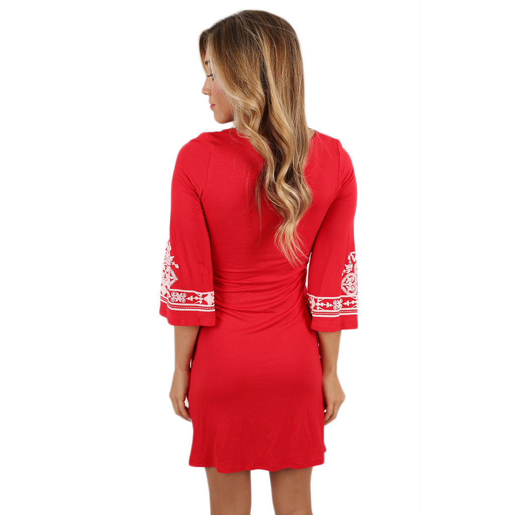 The Winning Team Dress in Red