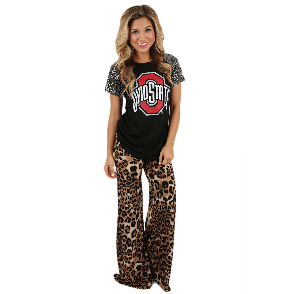 Sequin Sleeve Jersey Ohio State