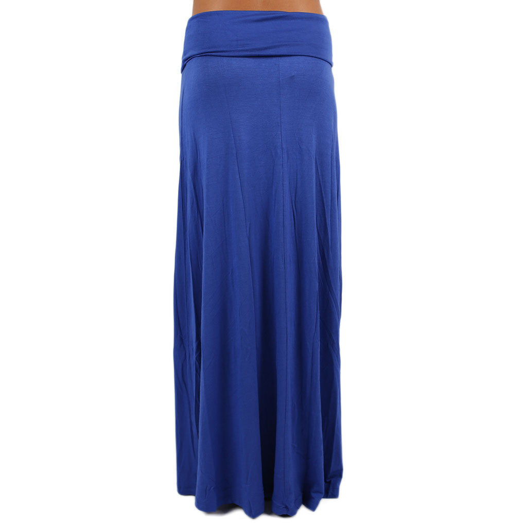 Not So Basic Maxi Skirt in Royal Blue