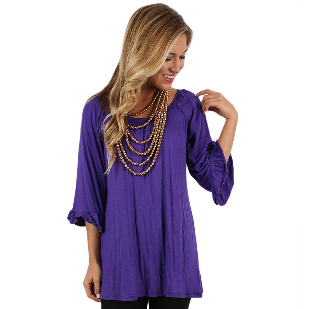 Cheer On Tunic in Purple