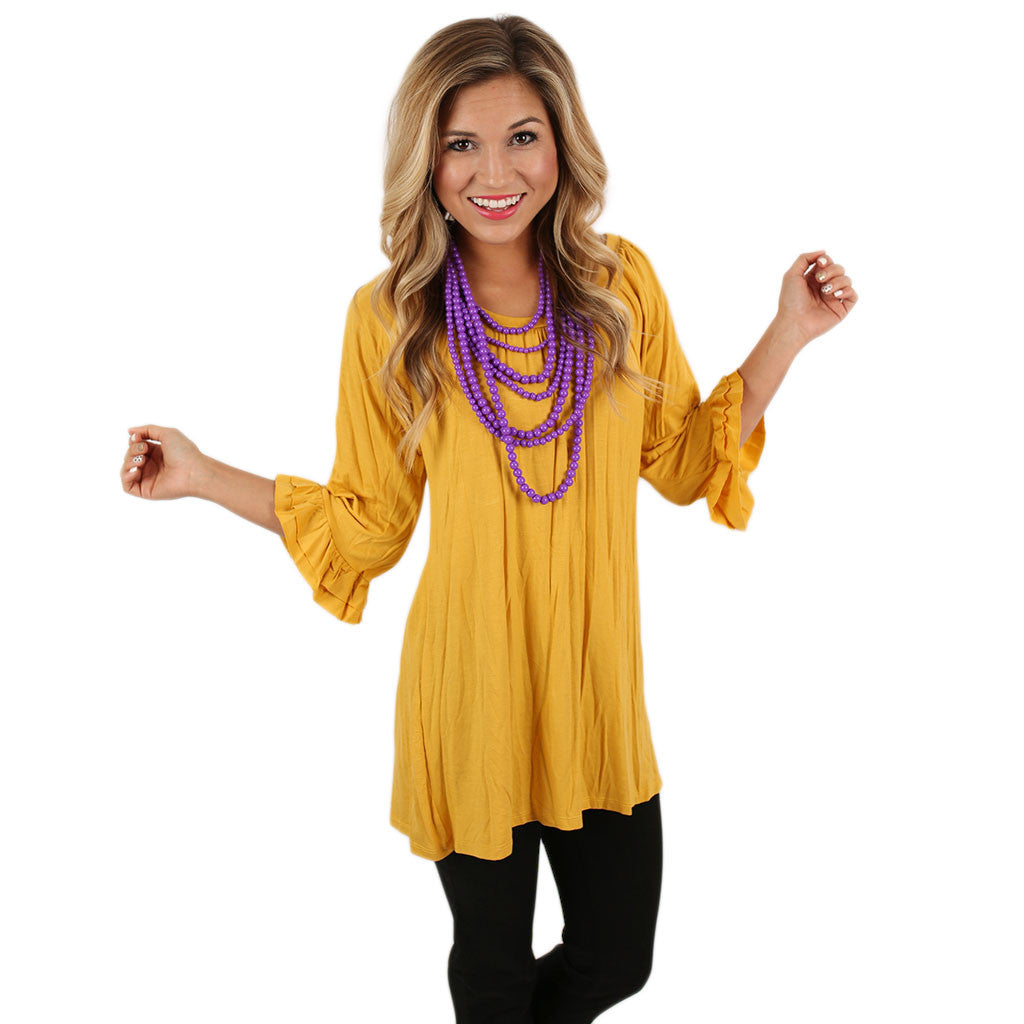 Cheer On Tunic in Mustard