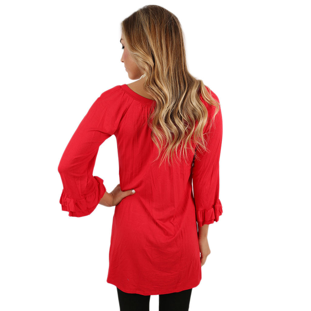 Cheer On Tunic in Red