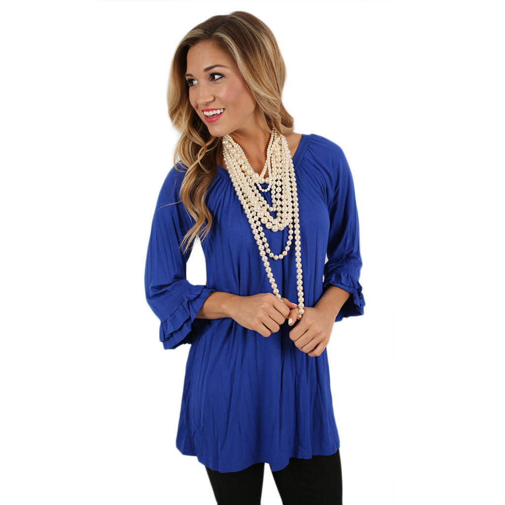 Cheer On Tunic in Royal Blue