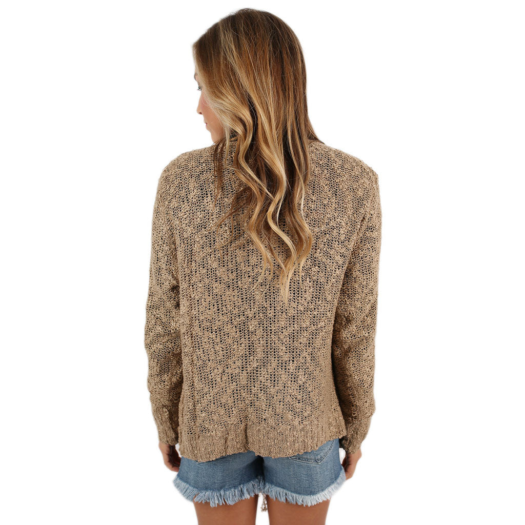 Cozy Chic Cardi Taupe