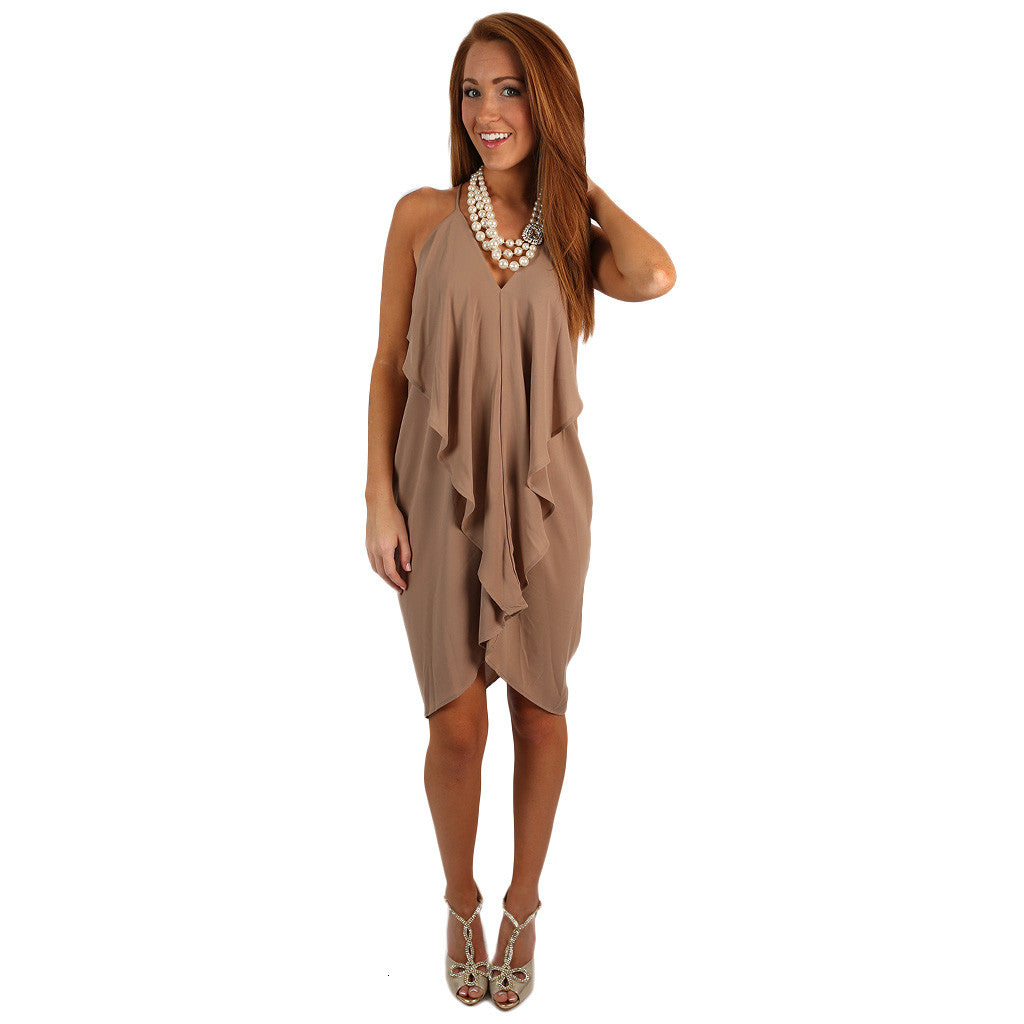 Hopeless Romantic Dress in Taupe
