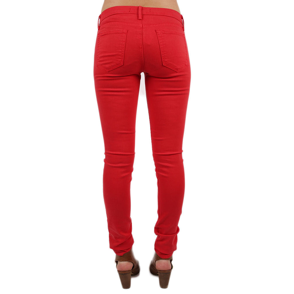 Basic Skinny Jean in Red