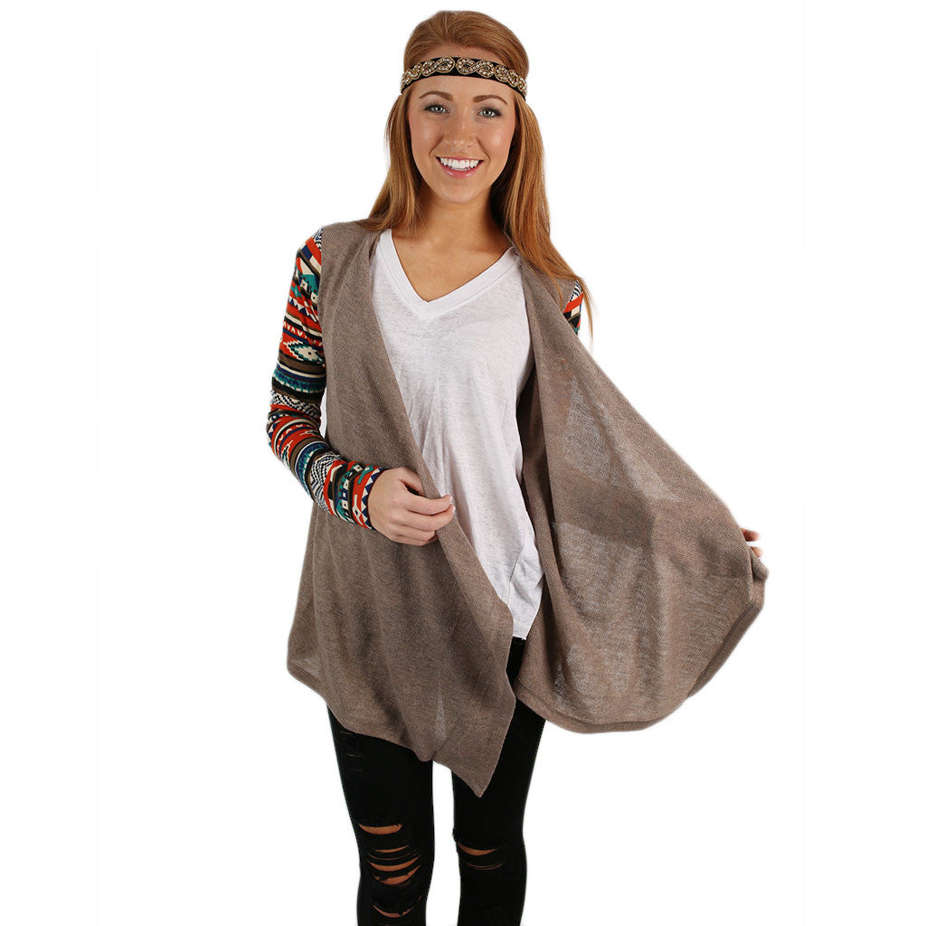 Paris Nights Cardi in Taupe