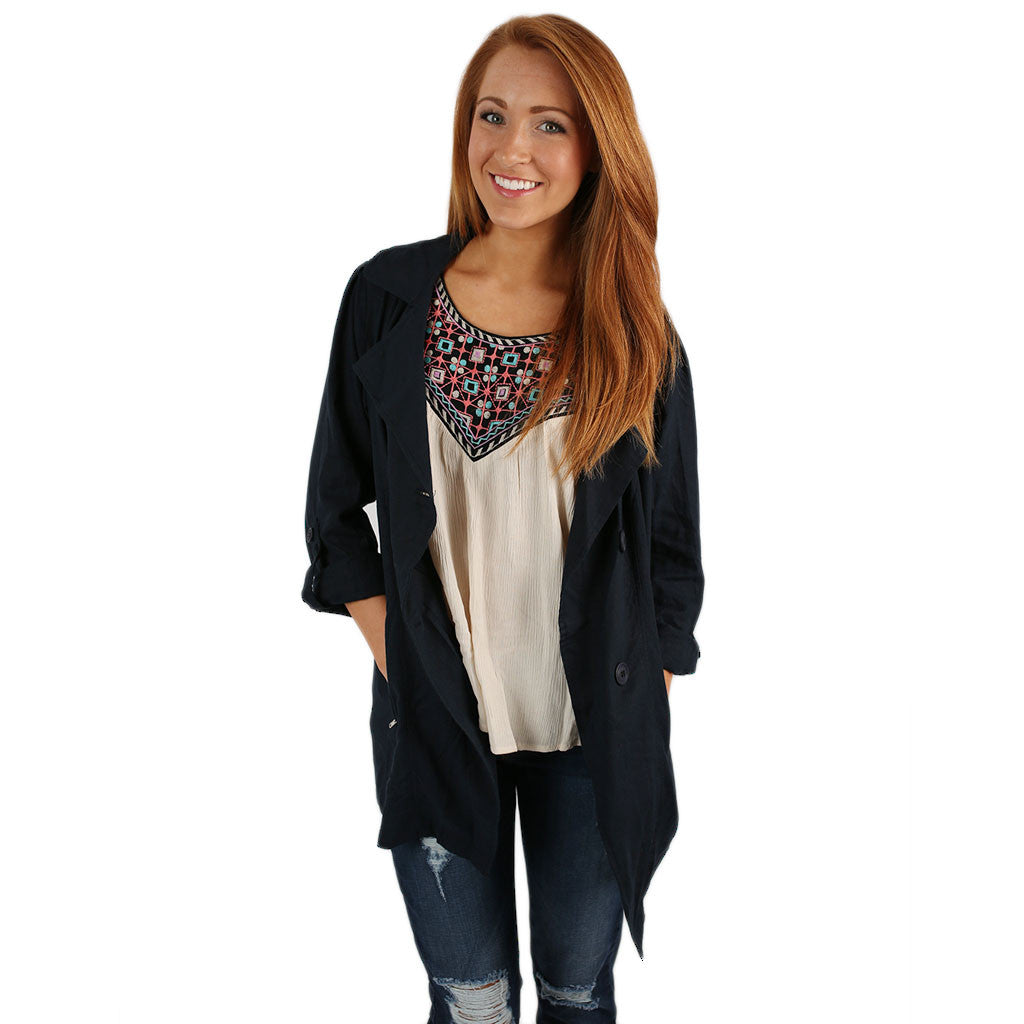 Breezy Chic Jacket in Navy
