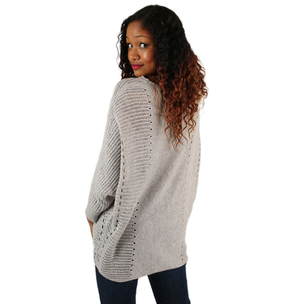 Just So Cozy Tunic Sweater in Grey