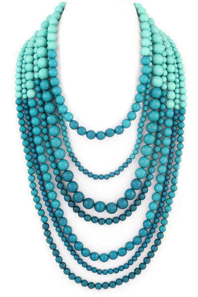 Layer Me Up Necklace in Teal