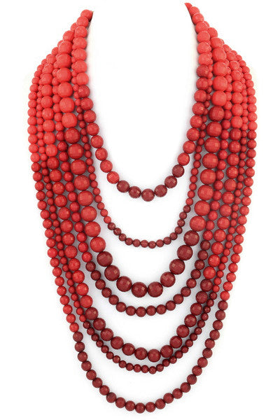 Layer Me Up Necklace in Red