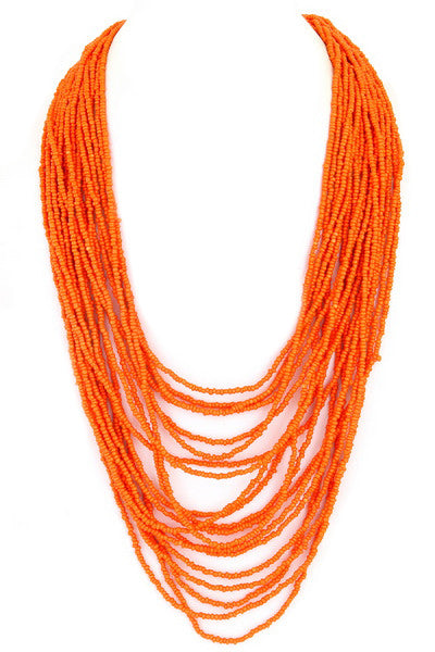 Bahamas Bound Necklace in Orange