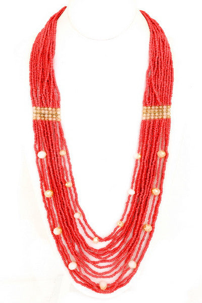 Close To My Heart Necklace in Coral