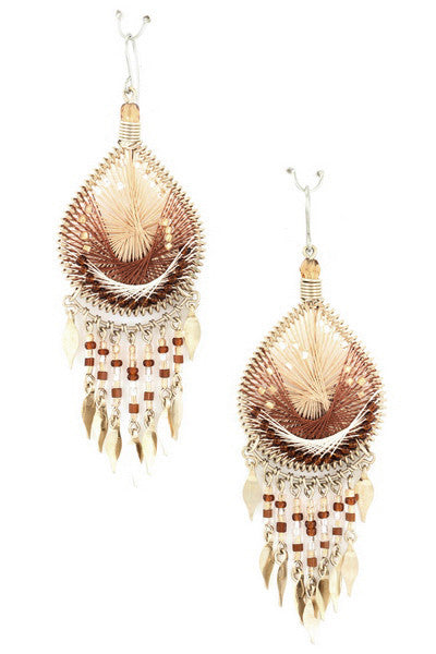 Free Falling Earring in Brown