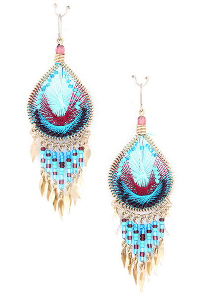 Free Falling Earring in Blue