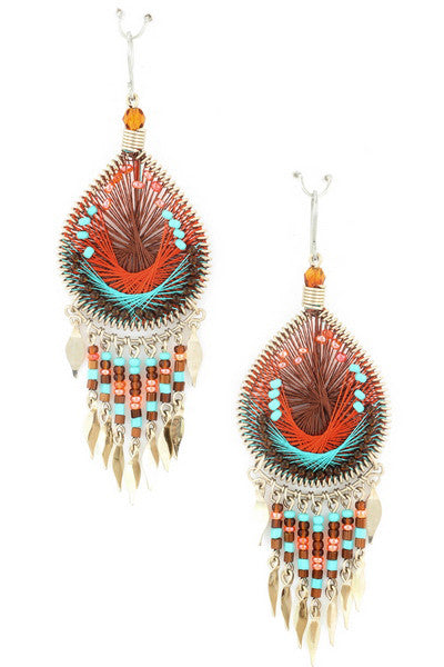 Free Falling Earring in Coral