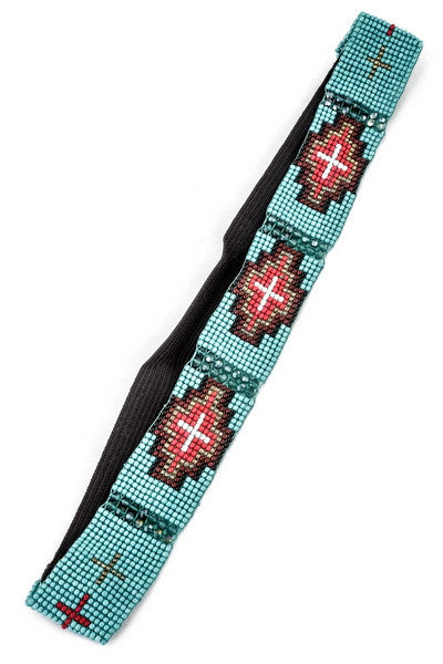 Bless Her Heart Headband in Turquoise