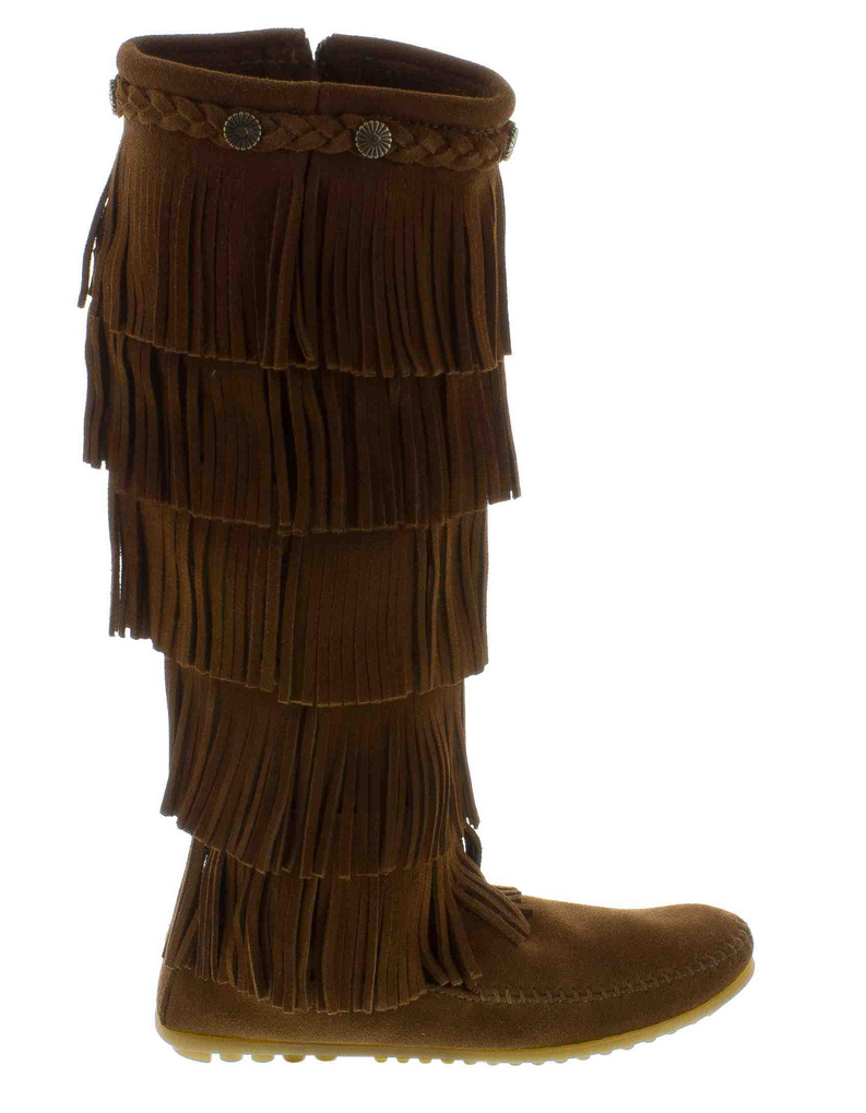 5-Layer Fringe Boot in Dusty Brown