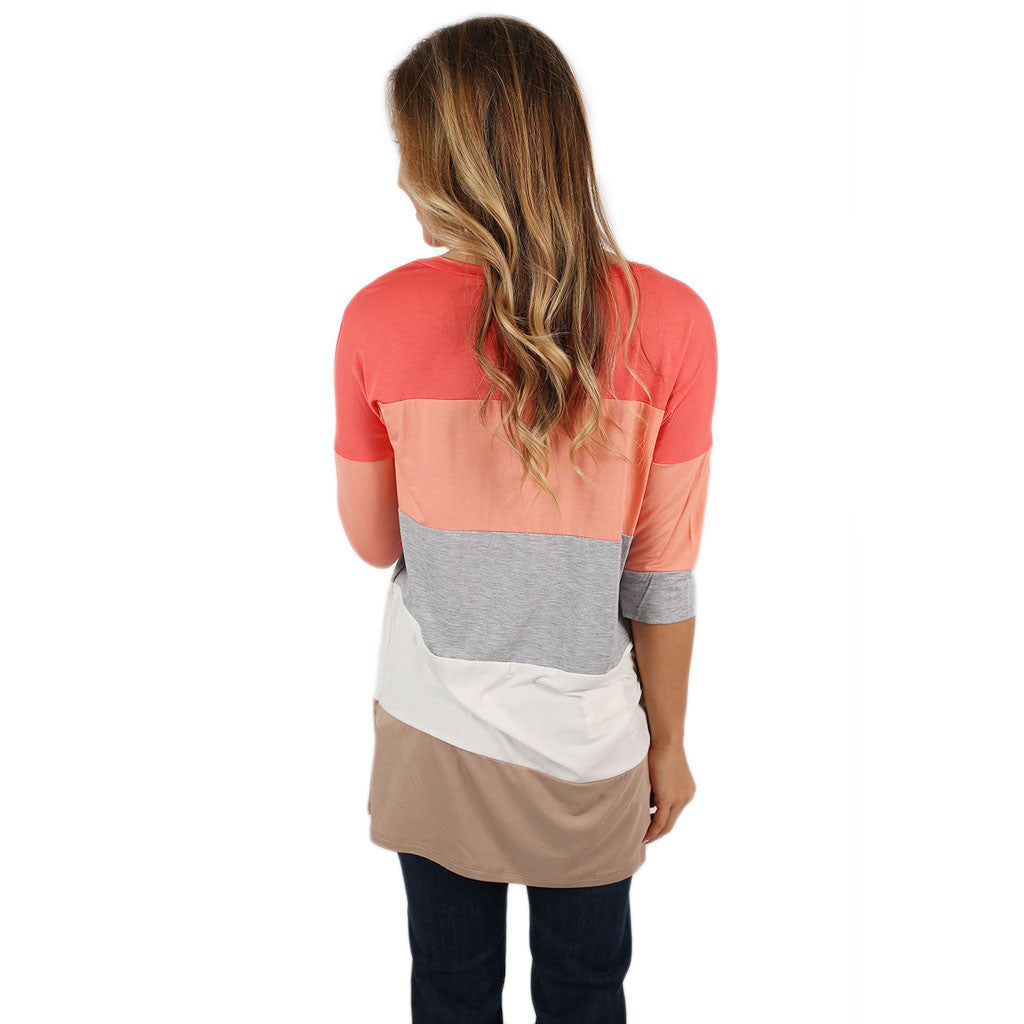 Cozy Luxury Tee in Coral