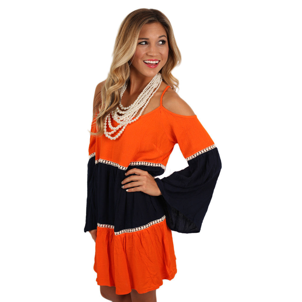 Twirl Me Around Dress in Orange