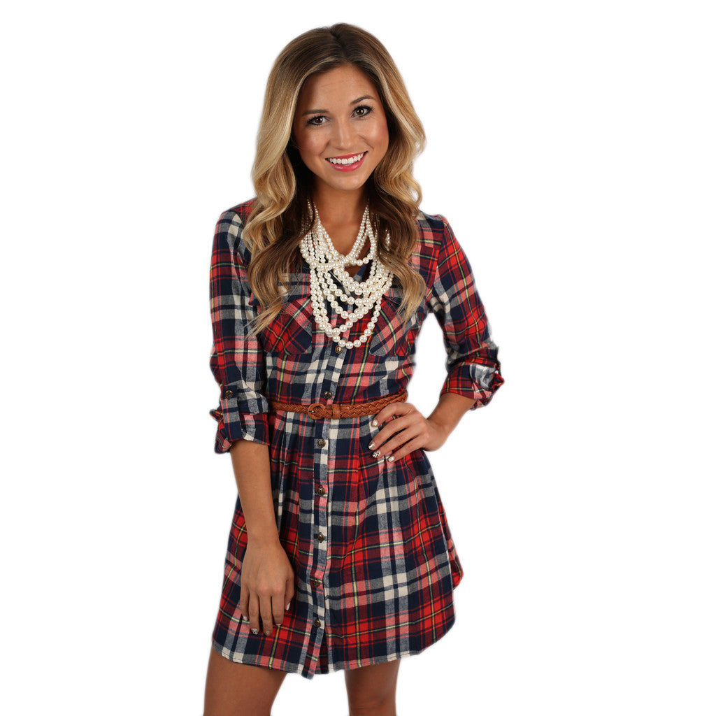 Womens Flannel Shirt Dress